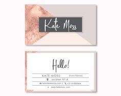 Business Card Design, Premade Business Card Template, Geometric, Lines, Modern, Minimal, Elegant Business Card, Rose Gold Business Card