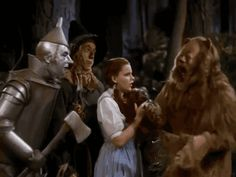 Judy Garland couldn't stop giggling in this scene where she had to slap the Cowardly Lion. The director eventually took her aside and slapped her, then she nailed it in one take. You can see her giggling in this gif. Looks like she's trying to rein it in. But she just couldn't. She finished the scene in one take after getting slapped. Times were certainly different back then. Do you think anyone's ever slapped Jennifer Lawrence on set?  sounds like an effective way to combat the giggles.