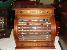 Beautiful,furniture,collectable, Spool Cabinets,original Antique Collection