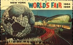 This postcard of the The 1964/65 New York World's Fair also shows the TWA terminal at John F. Kennedy International Airport