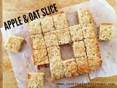 The combination of the sweet apples and hearty oats make this Apple and Oat Slice a perfect morning tea snack. Lunch Box Recipes, Baby Food Recipes, Sweet Recipes, Baking Recipes, Snack Recipes, Lunchbox Ideas, Toddler Recipes, Toddler Food, Freezer Recipes