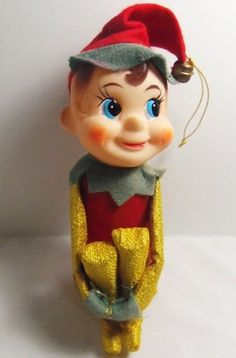 Vintage 1950's 1960's Christmas Elf Pixie Knee Hugger Large | eBay