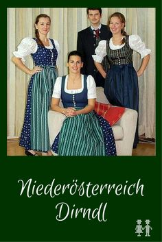 Niederösterreich hat als eines von zwei Bundesländern ein offizielles Landesdirndl. Und das gibt es gleich in 3 Ausführungen! Flattering Dresses, Modest Dresses, Folk Costume, Costumes, Folk Fashion, Womens Fashion, Dress Outfits, Dress Up, Neue Outfits