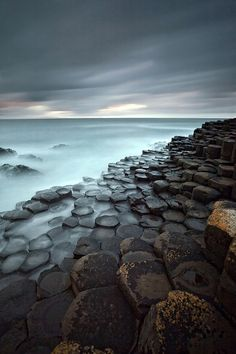 Giants Causeway (also known as Clochán an Aifir or Clochán na bhFomhórach in Irish, and tha Giant's Causey in Ulster-Scots), County Antrim, Northern Ireland