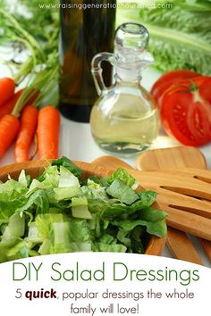 DIY salad dressings