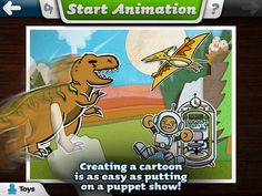 """Toontastic - free version.  Teach your child about story development - contains backgrounds, characters, music effects, etc.  Child can add their own storyline and dialog.  Full version has more """"sets""""."""
