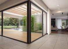 Projekt domu Agos 181,15 m² - koszt budowy - EXTRADOM Dream House Plans, Windows, Patio, Interior Design, Furniture, Houses, Home Decor, Face, Garden
