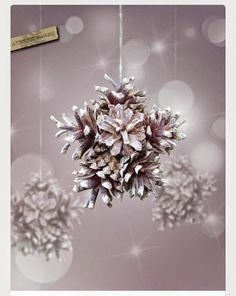 DIY+Snowflake+With+Pinecones.jpg 540×678 pikseliä