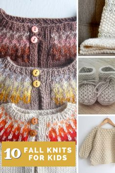 Fall knits for kids - free knitting patterns