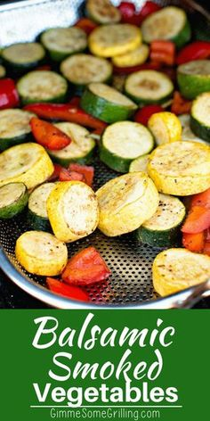 These quick and easy smoked vegetables are the perfect quick and easy side dish . - These quick and easy smoked vegetables are the perfect quick and easy side dish on your smoker! Side Dishes Easy, Vegetable Side Dishes, Side Dish Recipes, Vegetable Recipes, Bbq Recipes Sides, Rib Recipes, Veggie Food, Smoker Grill Recipes, Grilling Recipes