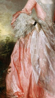 Traveling through history of Art...Mary, Countess of Howe, detail, by Thomas Gainsborough, 1763.