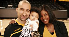 VCU Coach Shaka Smart with his wife Maya and daughter Zora.