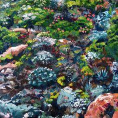 Karoo Colours I   2012 Oil on canvas   400 x 400 #RosKochArt