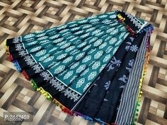 Mulmul Cotton Pompom Lace Sarees from Stf Store Lace Saree, Saree Dress, Cotton Saree, Cotton Silk, Modern Saree, Ikat Print, Printed Sarees, Blouse Designs, Trendy Fashion