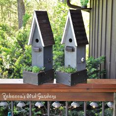Love the new gray colors I'm adding to the mix! These birdhouse planters are a hot item at our local market and festivals! I have a few left in the shop. Plants not included!