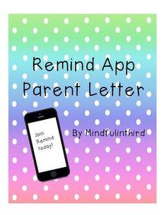 Parent Communication App Editable Letter Template Letter