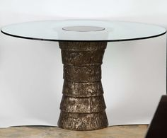 Sculptural Brutalist Pedestal Style Table | From a unique collection of antique and modern dining room tables at https://www.1stdibs.com/furniture/tables/dining-room-tables/