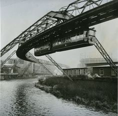 1957 Wuppertal Suspension Railway, Germany.