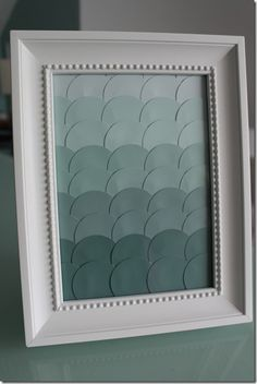 DIY Paint Chip Art - monochrome for spare room? Home Crafts, Fun Crafts, Paper Crafts, Diy Artwork, Diy Wall Art, Crafty Craft, Crafty Projects, Paint Chip Art, Paint Cards
