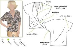 Items similar to Ginger Top - Sizes 20 - Women's Top PDF Sewing Pattern by Style Arc - Sewing Project - Digital Pattern on Etsy Diy Vetement, Techniques Couture, Pdf Sewing Patterns, Clothes Patterns, Cute Tops, Shirts, Knitting, Beautiful, Digital Pattern