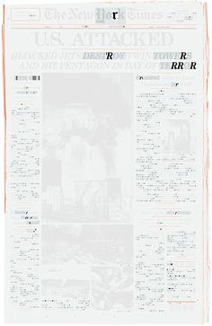 """""""_ _ R R _ R"""" by Rebeca Méndez, 2011. Screenprint."""
