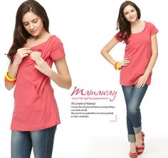 Maternity & Breastfeeding Short Sleeve Hoodie Nomor produk:1225 #Maternitywear #Breastfeedingwear #Nursingwear