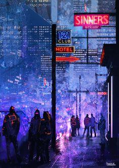 ArtStation - Future street, Anzal Muhammad