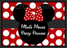 Minnie Mouse Party Package Printable by www.cutiepatootiecreations.com
