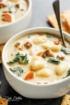 slow cooker creamy gnocchi sausage kale soup (lightened  Mein Blog: Alles rund um die Themen Genuss & Geschmack  Kochen Backen Braten Vorspeisen Hauptgerichte und Desserts