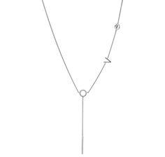 Tracey Bregman Sterling Silver  Diamond Love Necklace
