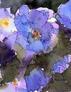 Blue Hyacinth Painting  - Blue Hyacinth Fine Art Print