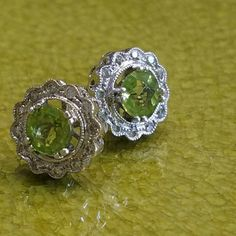 Gorgeous peridot studs for all the August babies out there!  #schomburgs #jewelers #shoplocal #familybusiness #columbusga #finejewelry #luxury #earcandy #earrings #jewelrygoals #glam #green #peridot #diamonds #august #birthstone