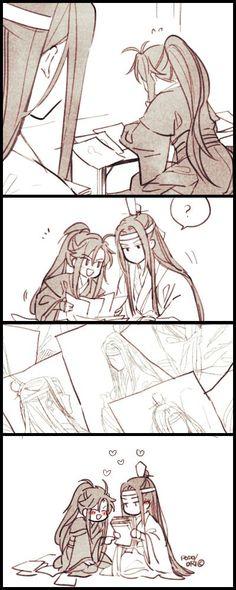 Awww Lan Zhan Wei Ying so sweet ❤❤ Chinese Cartoon, The Grandmaster, Cute Gay, Light Novel, Fujoshi, Cute Love, Webtoon, Otaku, Drama