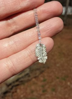Silver Feather Pendant Necklace - Native American Jewelry - Feather Charm Necklace - Layering Necklace - Silver Layered Necklace