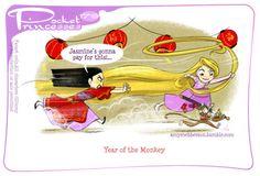 Pocket Princesses 179: Year of the MonkeyPlease reblog, do not...