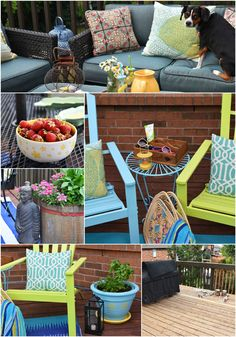 Refresh Your Outdoor Space with a few easy DIYs and some thrifted accessories