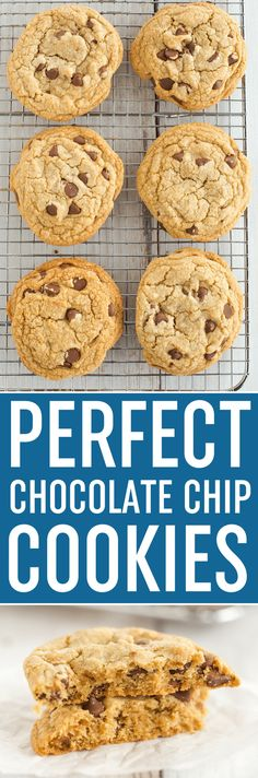 Cook's Illustrated Perfect Chocolate Chip Cookies are large, bakery-style chocolate chip cookies made with browned butter and dark brown sugar for a toffee-like flavor. via @browneyedbaker