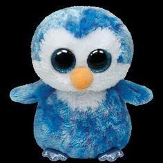 """2014 Ty Beanie Boos Babies 6/"""" ICE CUBE Penguin February 11 Sparkle Eyes Blue NWT"""