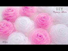 МК цветочные бантики с коронами - YouTube