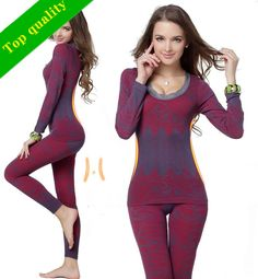 f79ffb5b11 2015 Thin Set Women s Body Suit Fashion O-Neck Wave Edge Long Johns Tight  Slimming winter warm Thermo Thermal Underwear Women