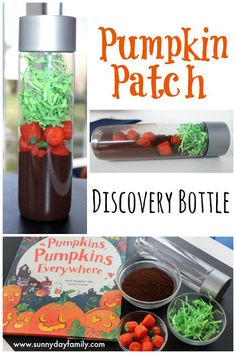 Make a pumpkin patch in a bottle! An easy, fun Halloween activity plus a review of a brand new Halloween book for kids.