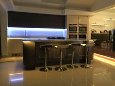 The LED Hut team have kitchen envy! Great use of our strip lighting. Led Strip, Strip Lighting, Envy, Lights, Kitchen, Furniture, Home Decor, Products, Highlight