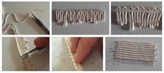 tutorial knitted polymer clay (reverse stocking stitch) | Flickr - Photo Sharing!