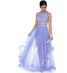 Product - Camila Lavender Two Piece Prom Dress