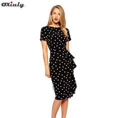 Αγοράστε Oxiuly New Women Vintage Dot Print Short Sleeve O- στον ιστότοπο Zipy - Απλώς αγοράστε στο AliExpress στα ελληνικά στις πιο συμφέρουσες τιμές στην Ελλάδα με δυνατότητα πλήρους επιστροφής δασμών στο τελωνείο!