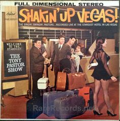 The Tony Pastor Show - Shakin' Up Vegas Cool cheesecake cover from 1962. #records #albums #vinyl