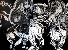 emiliano donaggio - a venetian Artist - La battaglia di Anghiari -
