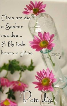 (351) Imagens e Frases de bom dia para baixar gratis - Imagens.lol Peace Love And Understanding, Jesus Prayer, Good Morning Greetings, Arte Floral, Peace And Love, Glass Vase, Prayers, Lily, 1955 Chevrolet