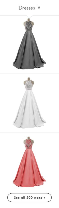 """""""Dresses IV"""" by lucyheartyui on Polyvore featuring dresses, long sequin dress, 2 piece long dress, two-piece dress, two piece prom dresses, long dresses, gowns, 2 piece prom dresses, long prom dresses i long beaded gown"""