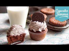 Cookies & Cream Oreo Cupcake Recipe | Cupcake Jemma - YouTube